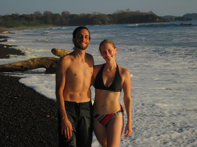 February 2012 - Black sand beach at Playa Ostinal, Nosara, Costa Rica