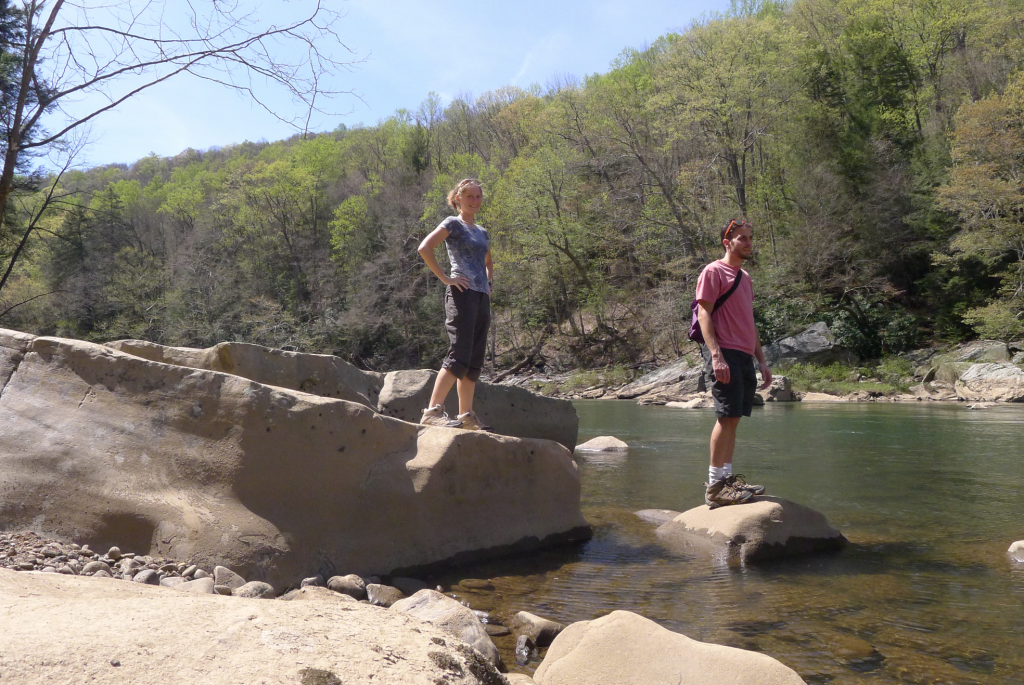 April 2012 - Rock hopping in Ohiopyle, PA