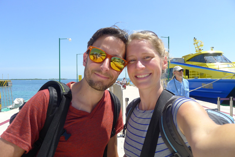 June 2012 - Just hopped off the ferry on Isla Mujeres, Mexico