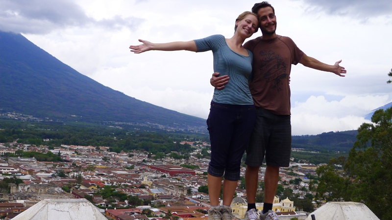 May 2013 - On top of the Cerro in Antigua, Guatemala