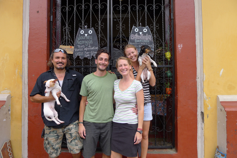 August 2013 - With our hostel hosts and friends in Leon, Nicaragua