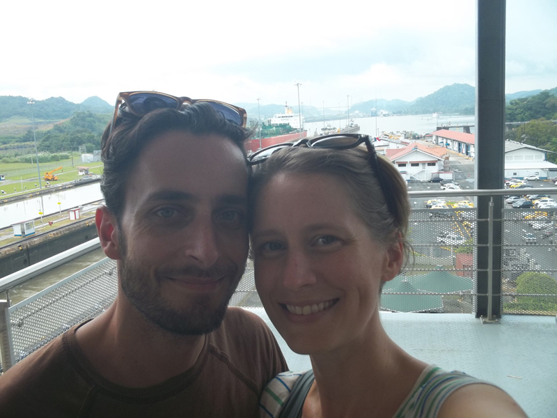 Hey look! We're at the Panama Canal.
