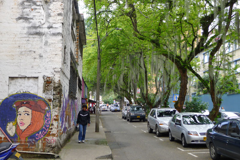 typical side street in Poblado