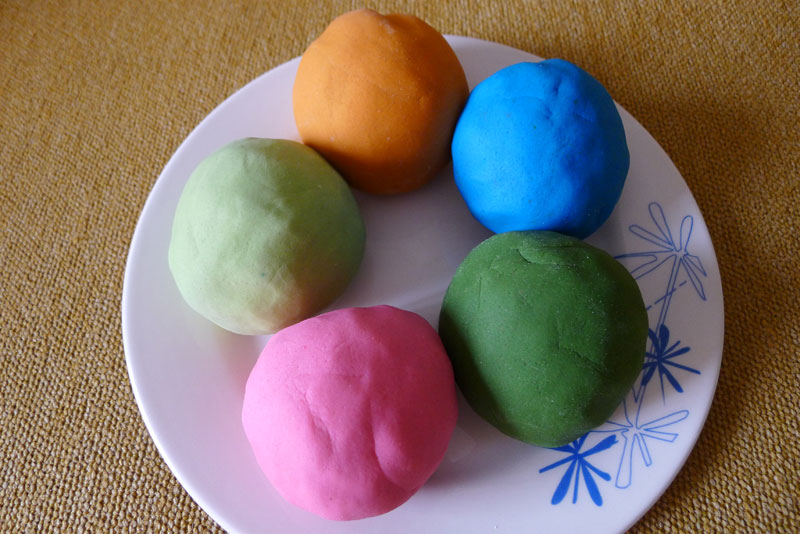 the finished play doh