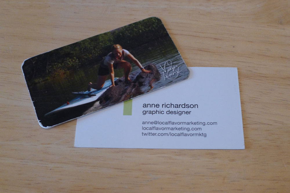 A business card with my email and travel blog have been handy for keeping in touch with all of the awesome people I meet along the way