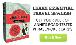 Chatty Gringa Spanish Phrase and Playing Card Deck for Travelers